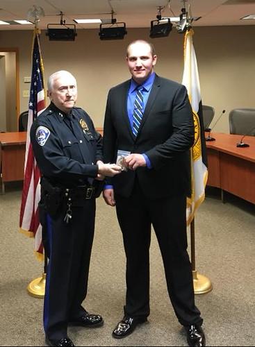 Officer Derek Eisman Sworn in - Speedway Police