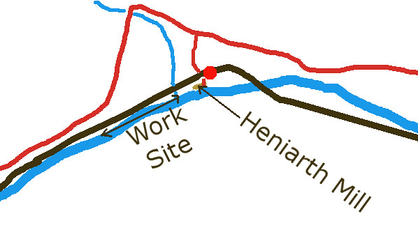 Heniarth Sketch Map