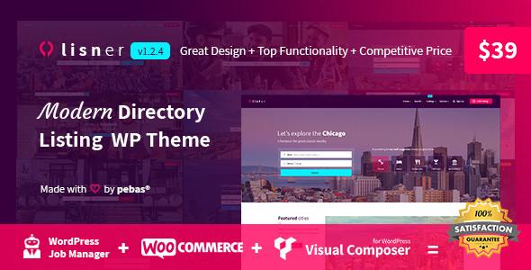 Lisner v1.2.4 – Modern Directory Listing WordPress Theme