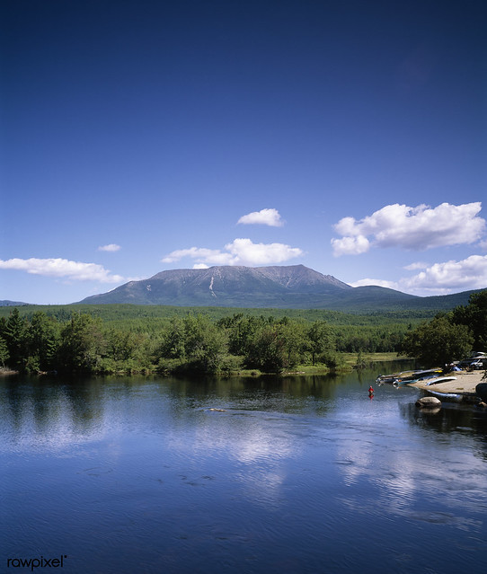 Mount Katahdin, Maine, Appalachian Trail. Original image from Carol M. Highsmith's America, Library of Congress collection. Digitally enhanced by rawpixel.