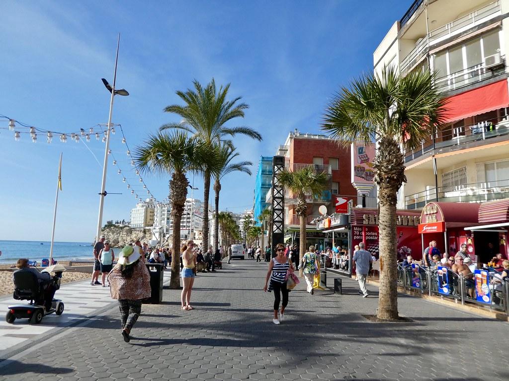 Along the promenade, Benidorm