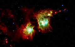 Making a spectacle of star formation in Orion. Original from NASA. Digitally enhanced by rawpixel.
