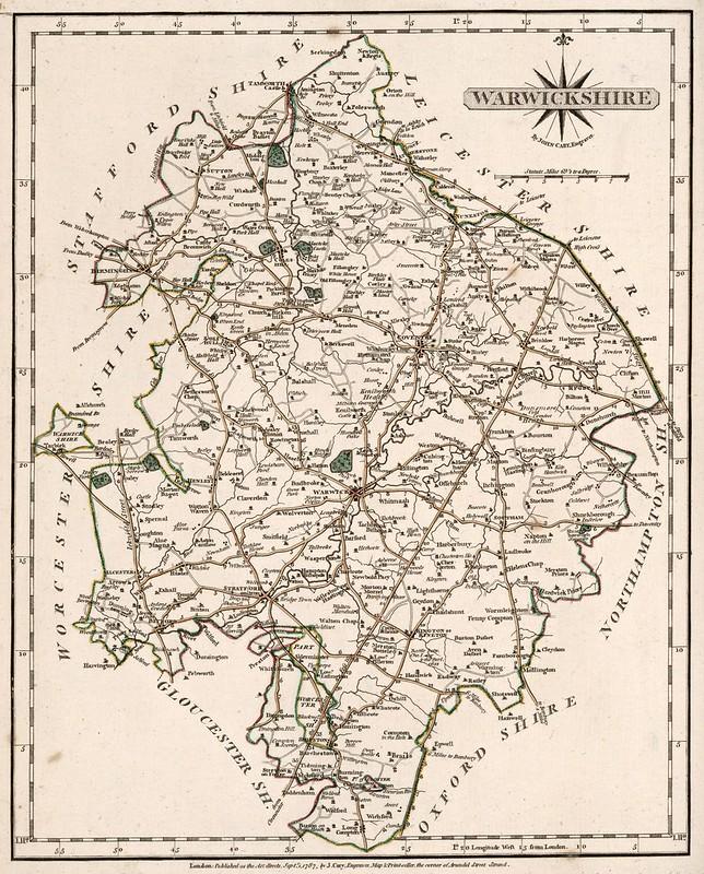 John Cary - Warwickshire (1787)