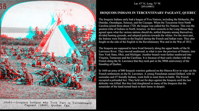 Keystone 265 - Iroquois Indians in Tercentenary Pageant, Quebec