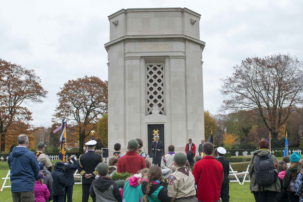 Adm. Foggo commemorates Armistice Day in Belgium