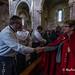 Santa Misa en la Básilica durante la visita de las Cofradías Gastronómicas de Asturias al Real Sitio de Covadonga para efectuar una ofrenda a la Santina.. Noviembre 2018.