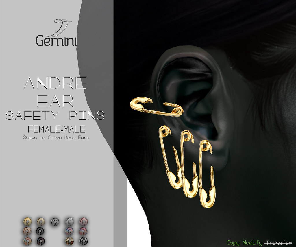 •Gemini -Andre Ear Safety Pins-@ Sense Event•