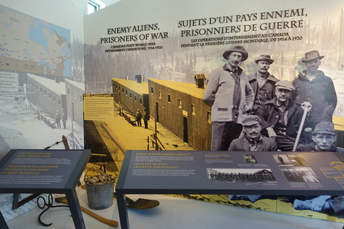 Banff Cave and Basin Enemy Aliens, Prisoner of War Exhibit. From History Comes Alive in Banff National Park
