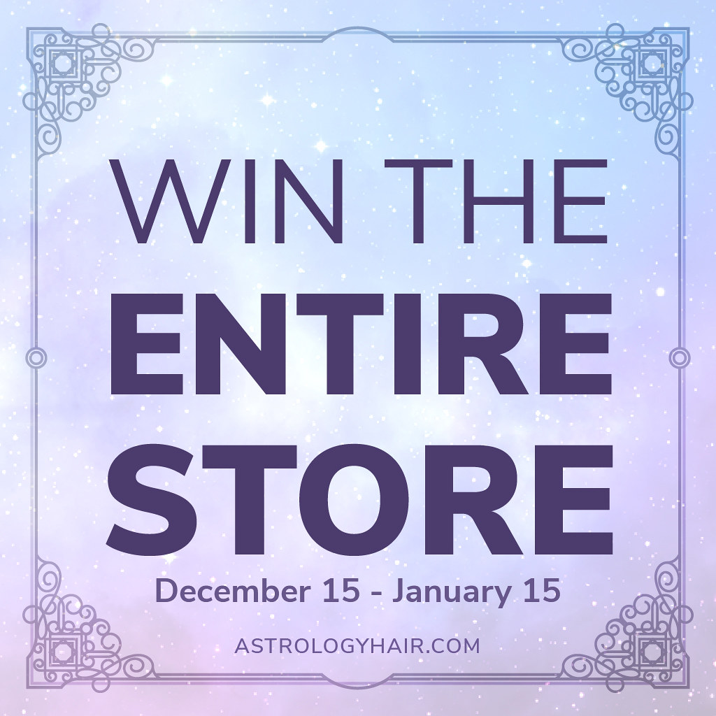 Win the ENTIRE Astrology Store! Over 21 hairstyles up for grabs