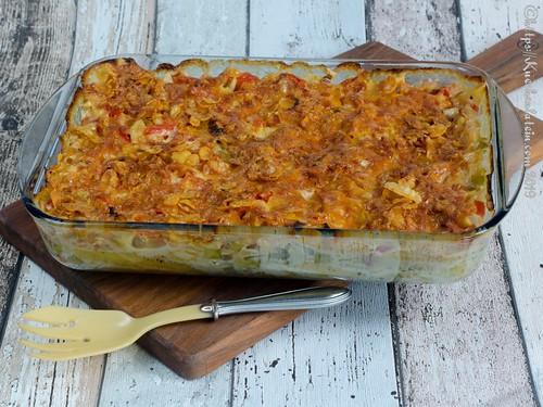 Würziger Nudel-Lauch-Auflauf mit Cornflakes-Käse-Kruste (2)