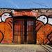 Wall/door art, Shoreditch, London E1
