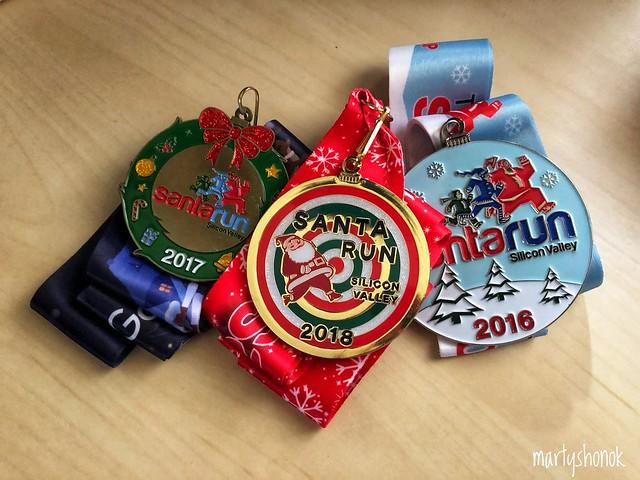 Santa Run medals