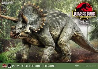 Prime 1 Studio《侏羅紀公園》三角龍 ジュラシック・パーク トリケラトプス 1/38 比例全身雕像作品