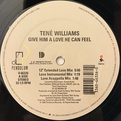 TENE WILLIAMS:GIVE HIM A LOVE HE CAN FEEL(LABEL SIDE-A)