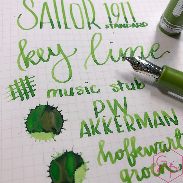 Sailor 1911S Key Lime Fountain Pen Music Nib 19