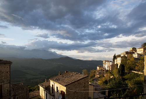 Bomba in Italy in the late evening sun