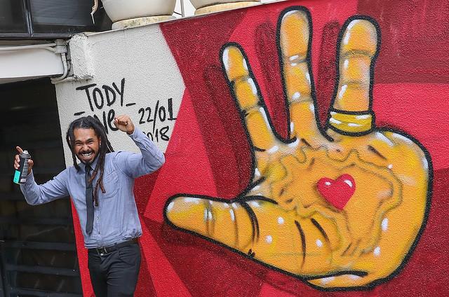 Artista visual Tody One renovou a fachada do Instituto Lula, em São Paulo, no início de 2018 - Créditos: Ricardo Stuckert