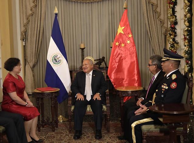Entrega de cartas Credenciales, Embajadora de China , Ou Jianhong
