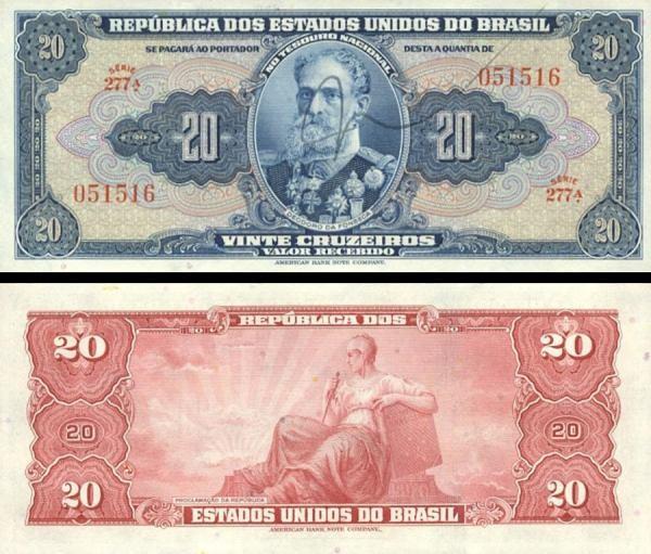 20 cruzeiros Brazília 1943, P136