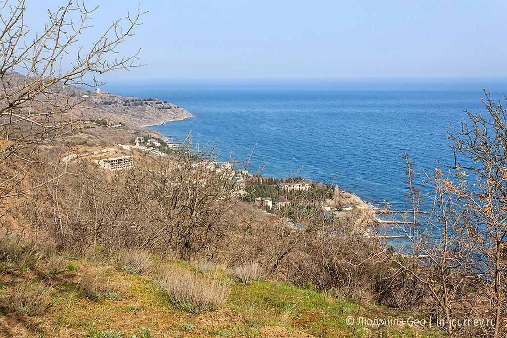 вид на побережье в сторону Солнечногорского