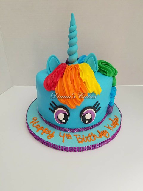 Little Pony Unicorn Cake by Diana's Cakes