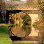Bridge reflection in the canal