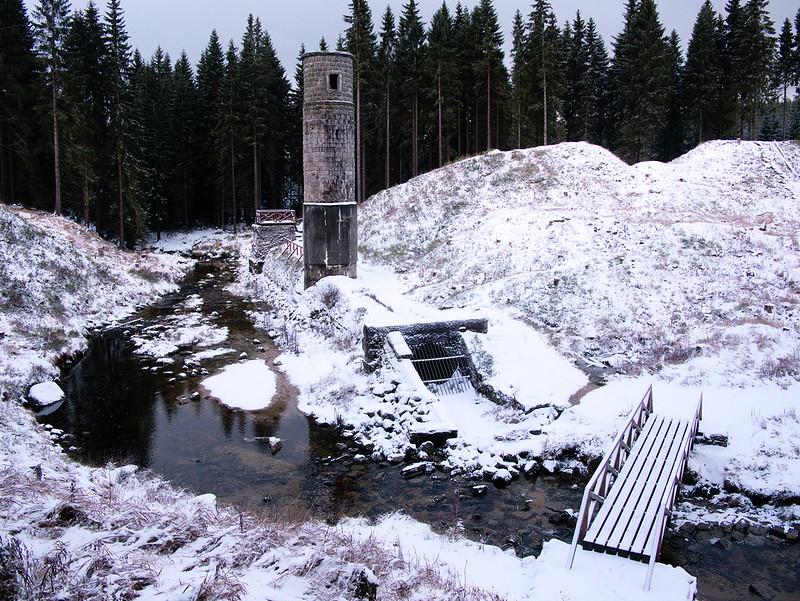ruiny zapory Góry Izerskie