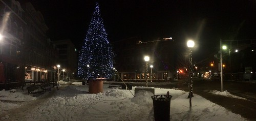 Downtown Bangor, ME at Christmas time