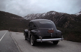 Pushing 5000ft. '40 Dodge into the canyon.