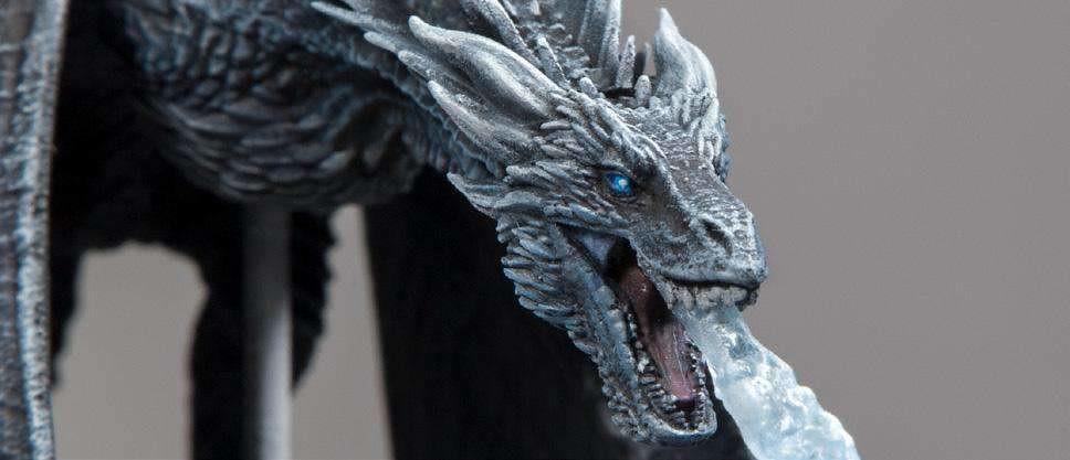凜冬將至,夜王的最強僕人駕到!? McFarlane Toys《冰與火之歌:權力遊戲》韋賽里昂 Viserion (Ice Dragon) 可動作品