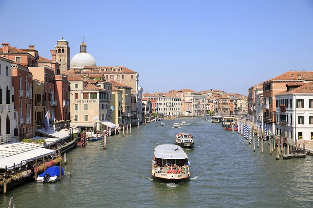 The famous Grand Canal in Venice, Italy.