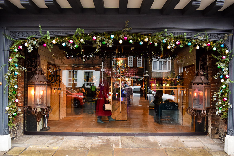 Falstaff Hotel Christmas Windows, Canterbury