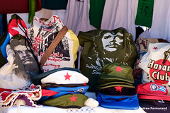 T-shirts and Baseball Caps for sale to Tourists, Trinidad, Cuba