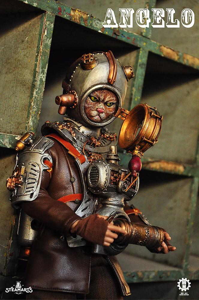 蒸汽工廠 多比蒂斯系列【貓騎士 安琪羅】Dobbys Series Knight Cat - Angelo 1/6 比例人偶作品