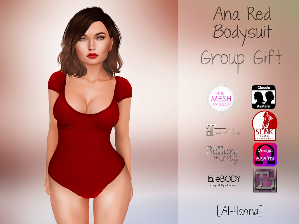[Al-Hanna] Ana Red Bodysuit GROUP GIFT