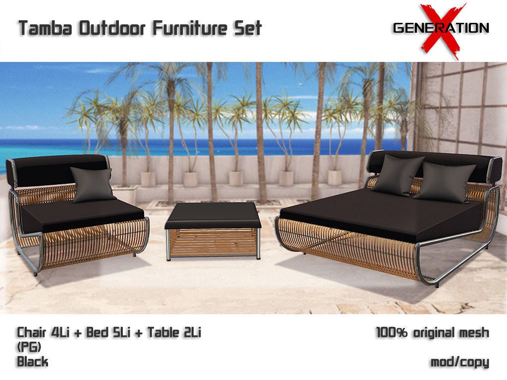 [Generation X] Tamba Outdoor Furniture Set Black
