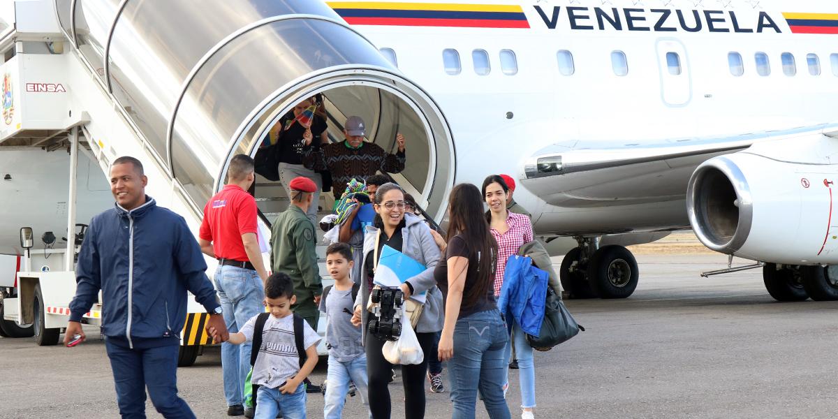 Plan Vuelta a la patria Ecuador primer, segundo y tercer vuelo.