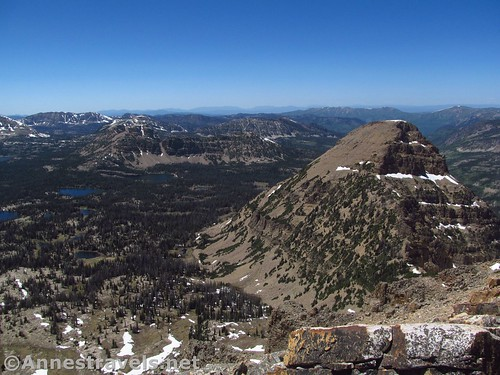 Reids Peak and views to the northwest from Bald Mountain in the Uinta Mountains of Utah