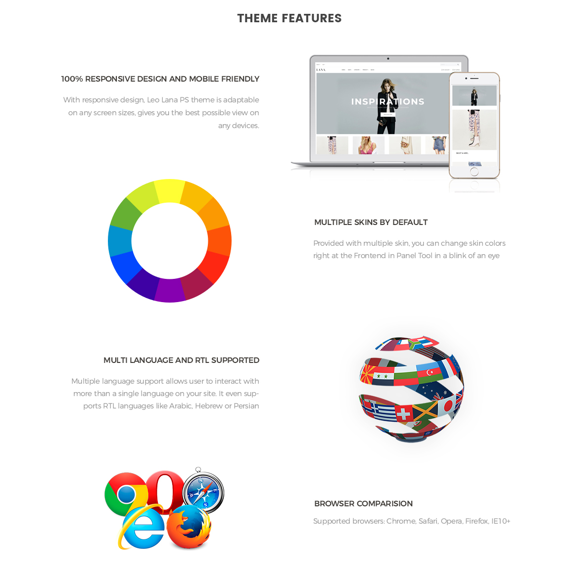Theme Features for Fashion Prestashop theme-Leotheme