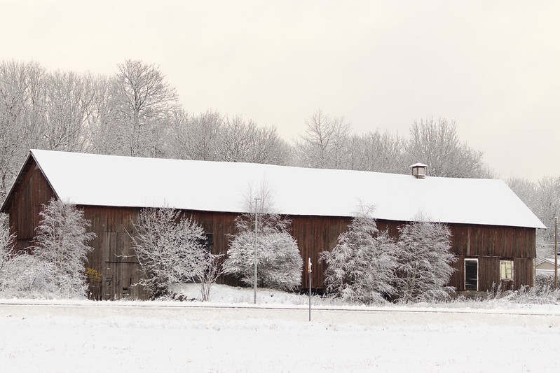 Winter Barn