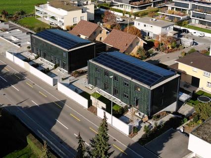 ECO-Solar-Häuser Uttwil - 1. Etappe Luftaufnahmen