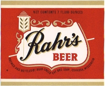 Rahrs-Beer--Labels-Rahr-Green-Bay-Brewing-Company
