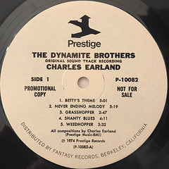 CHARLES EARLAND:THE DYNAMITE BROTHERS(ORIGINAL MOTION PICTURE SOUNDTRACK RECORDING)(LABEL SIDE-A)