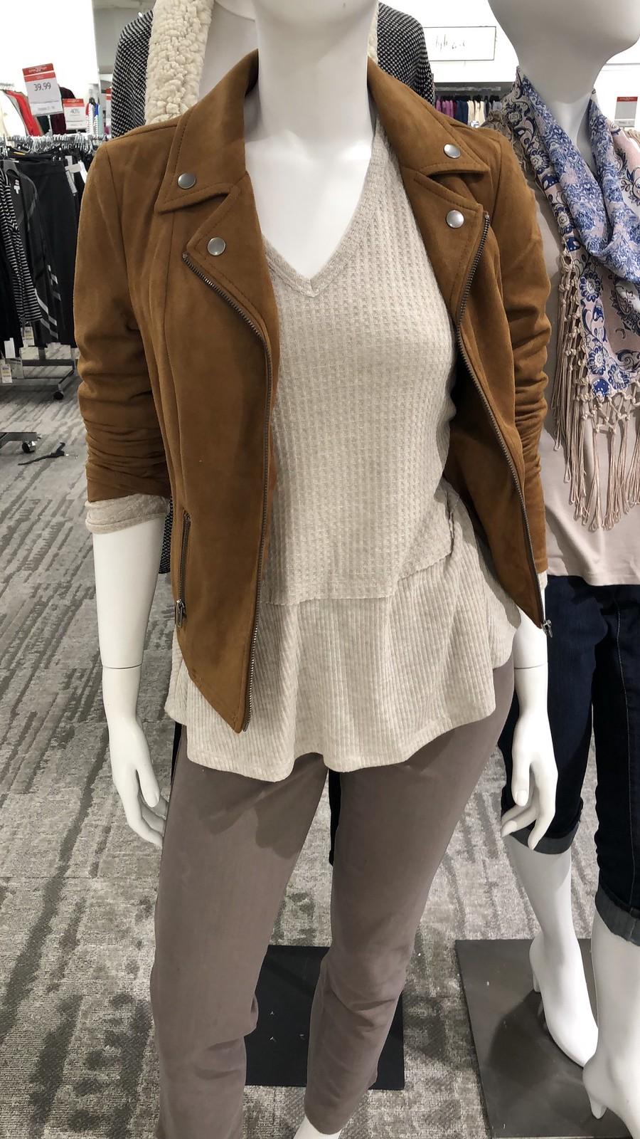 Style & Co Faux-Suede Moto Jacket
