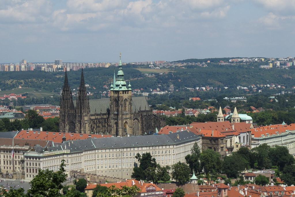 Пражский град и собор святого Вита.