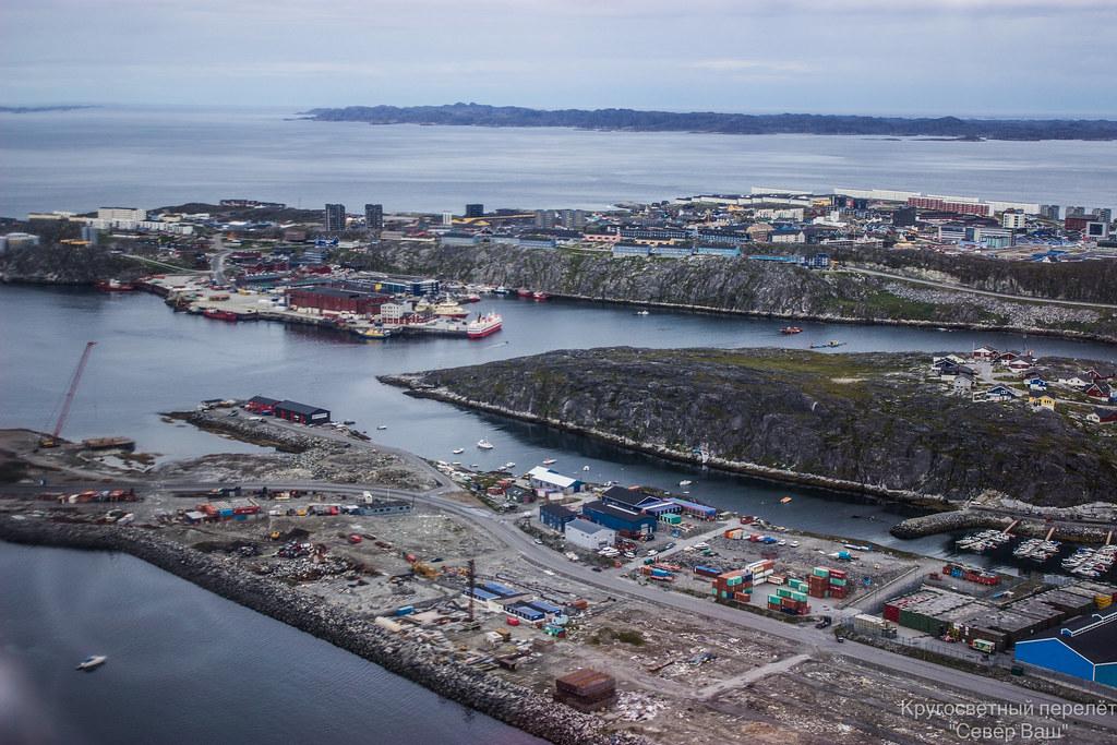 Панорама порта Нуук
