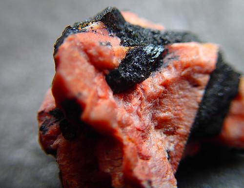 a coral rock black crystals