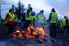 Mouvement des gilets jaunes, Andelnans, 24 Nov 2018
