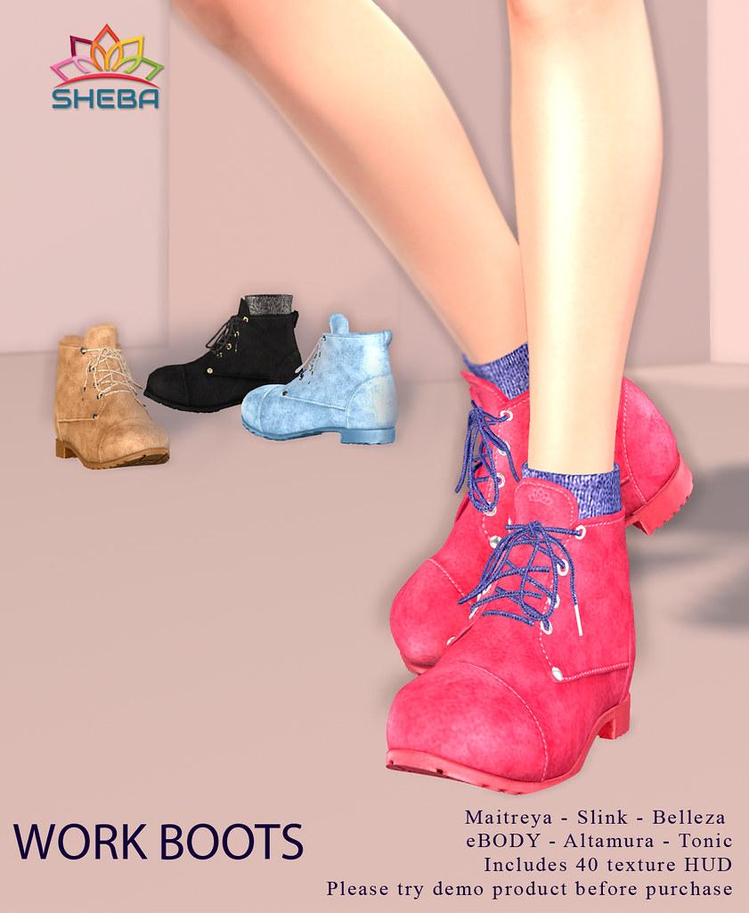 [Sheba] Work boots