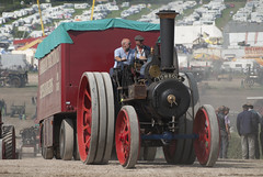 Longreach - Jonathan McDonnell posted a photo:Album : Great Dorset Steam Fair 2018.Foden Agricultural Traction Engine 'Tombola' [BF 6303] and a showmans trailer at the top of the heavy haulage arena.
